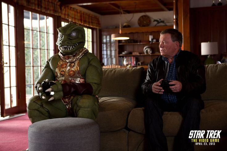 STAR TREK: THE VIDEO GAME -- Shatner vs. Gorn Trailer, via YouTube. This is pure Awesome-ness!