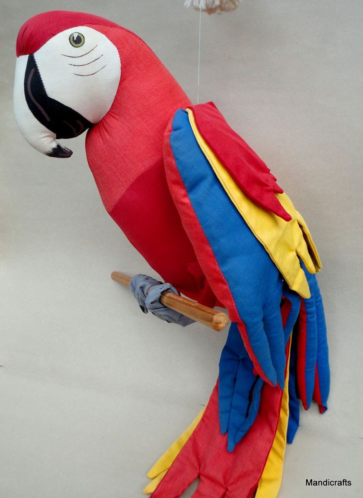 Parrot Macaw Stuffed Soft Sculpture 31