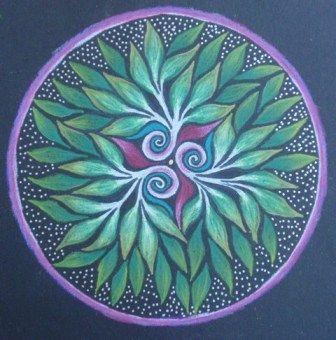 Mandala arboles misticos