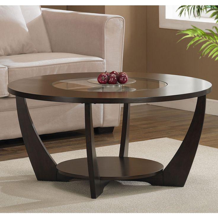Archer Espresso Coffee Table with Shelf, Brown