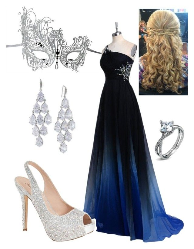 """masquerade"" by bobbiejoa ❤ liked on Polyvore featuring Masquerade, Lauren Lorraine, Carolee and Simon G."