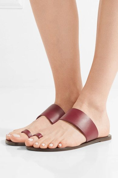 Slight heel Claret leather Slip on Designer color: Barolo  Made in ItalySmall to size. See Size & Fit notes.