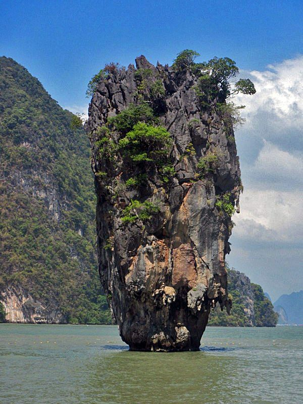James Bond Island, Phuket, Thailand - More Phuket photos + tips on the blog: http://www.ytravelblog.com/things-to-do-in-phuket/