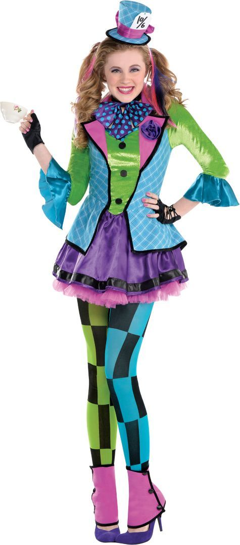 Teen Girls Sassy Mad Hatter Costume - Party City                                                                                                                                                     More