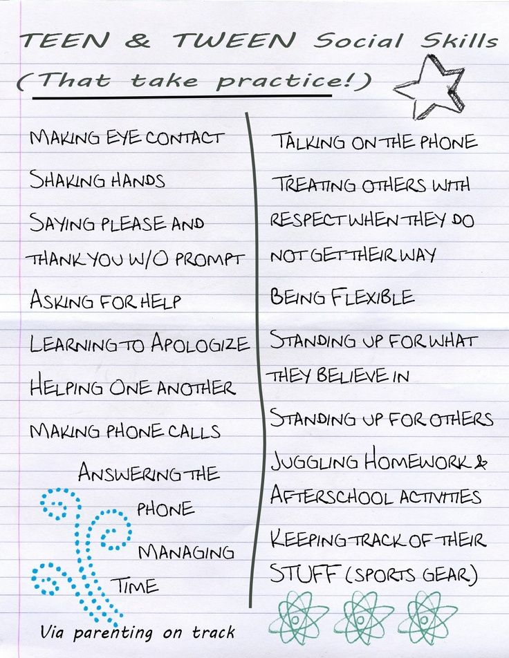 Tween Social Skills that Take Practice (Image)