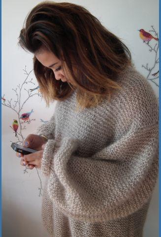 Pull BigBig mohair- Kit à tricoter