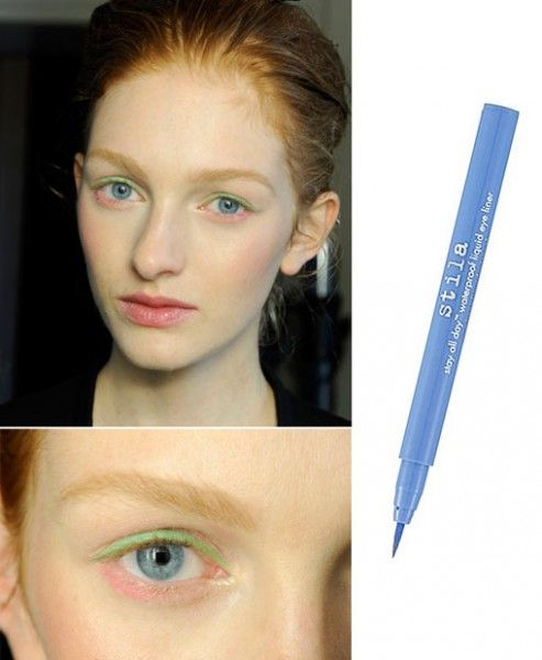 You never know where the night is going to take you so stay looking fresh- faced with Stila All Day Waterproof Liquid Eyeliner in Periwinkle, $26 at Shoppers Drug Mart.
