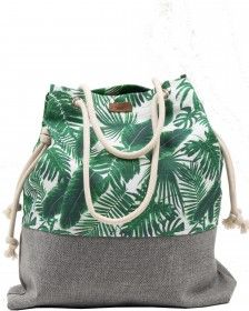 Tkaninowa torebka basic w palmy