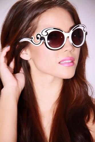 White Swirl Design Gradient Sunglasses