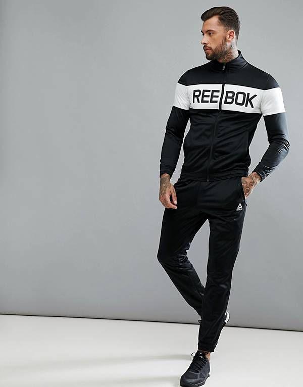 absolut stilvoll neues Hoch große Sammlung Reebok Training Tracksuit In Black BQ5736 | Chlothes in 2019 ...