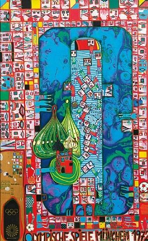 One of my favorite artists, Friedensreich Hundertwasser. Brilliant detail and color selection.