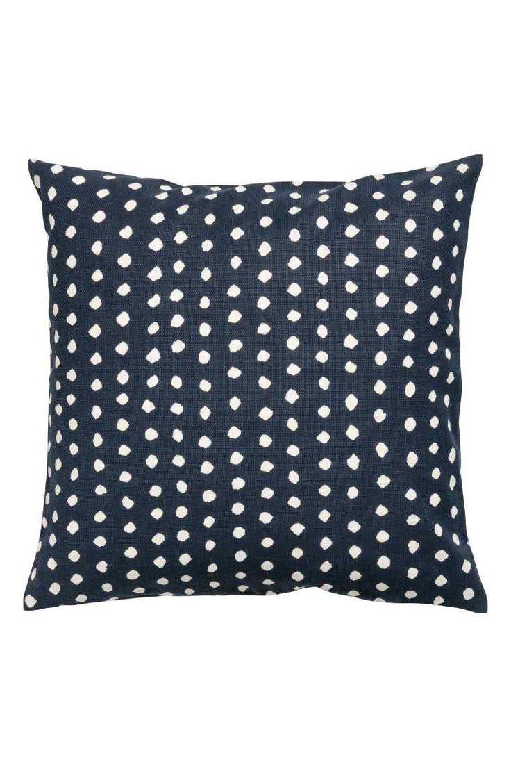Cushion cover - Dark blue - Home All   H&M GB 1