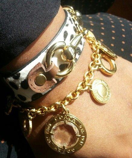Cowhide/Coach/Bracelets  #Coach #GoldGlassCharmBracelet