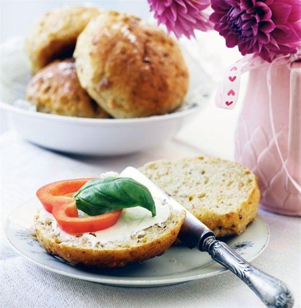 Gulerodsboller med nødder