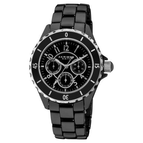 Akribos XXIV Women's AK544BK Ceramic Multi-Function Bracelet Watch -  $145.00 - SAVE 84%