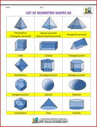 3 d shapes printables