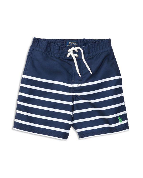 Ralph Lauren Childrenswear Boys' Sanibel Striped Swim Trunks - Sizes 2-7