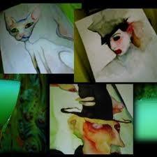 Marilyn Manson Absinthe Paintings