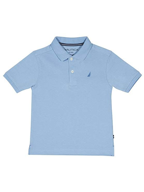 Nautica Boys Short Sleeve Solid Deck Polo Shirt