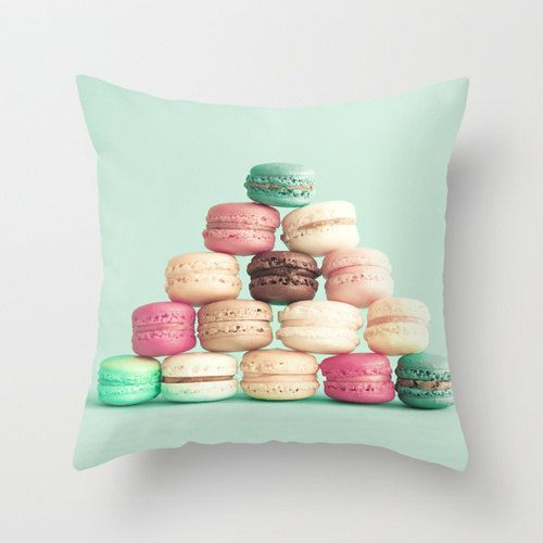 Pillow cover, mint pillow, aqua pillow, turquoise pillow, pink pillow, coral pillow,nursery art,nursery decor,vintage pillows,macaroon