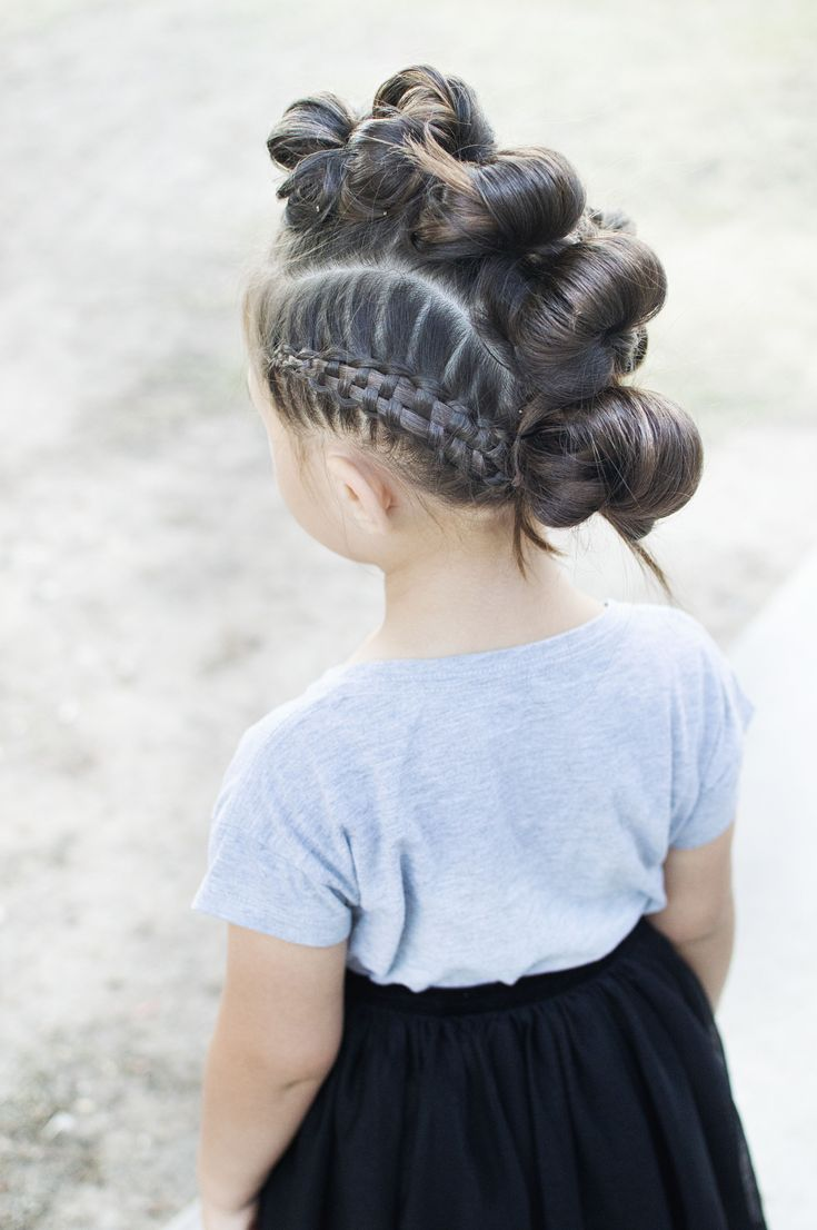 Messy Bun Mohawk with a side Zipper braid. Follow along! Instagram: HairtoDream …