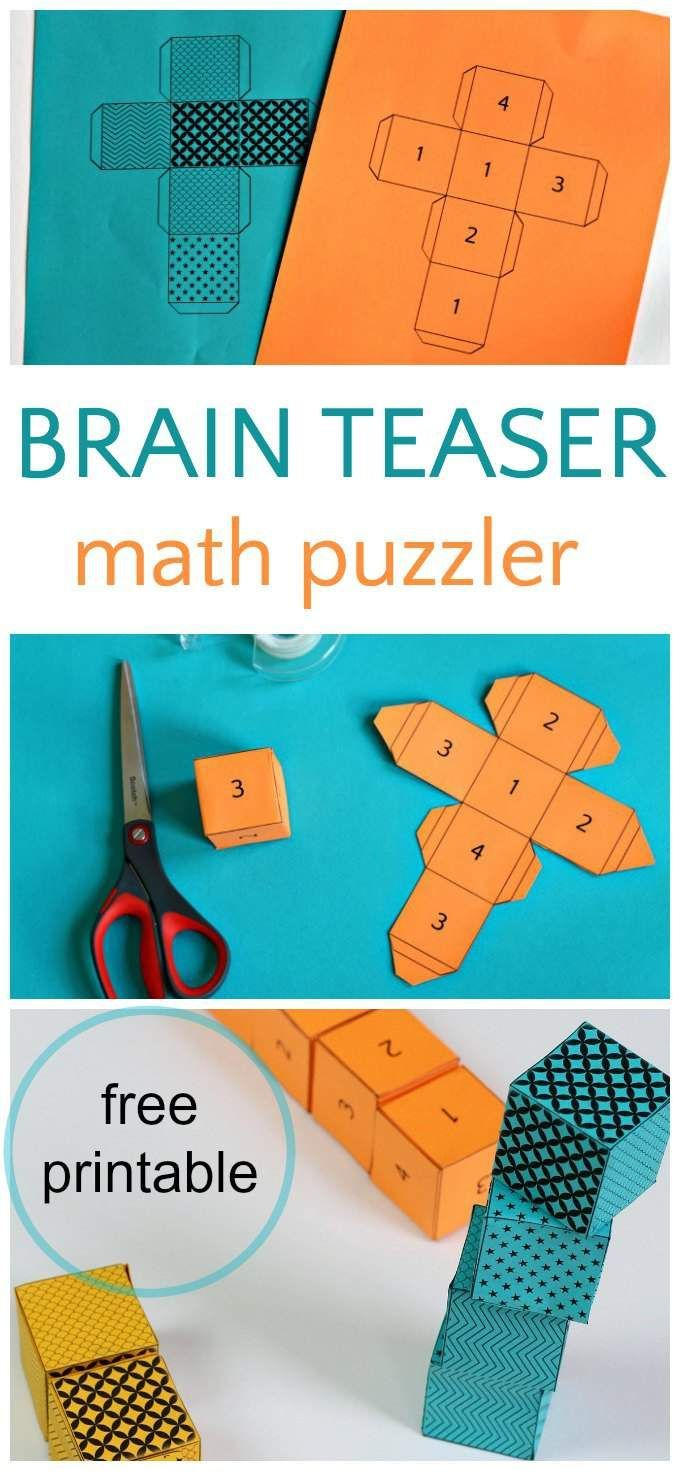 Brain Teaser For Kids: Math Cube Riddle