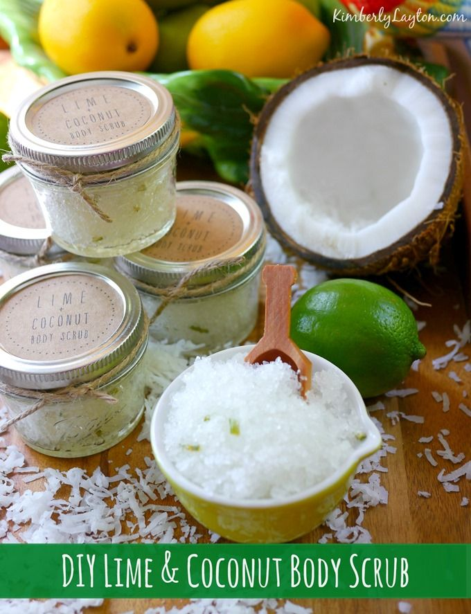 DIY Lime & Coconut Body Scrub...an easy tutorial that makes a fabulous DIY gift!!! #diy