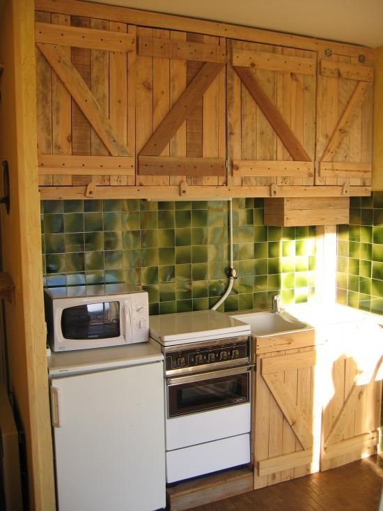 Pallets Into Laundry Cupboard Or Cabinet Doors In Kitchen