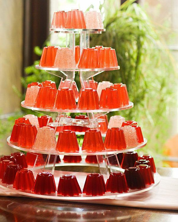 Jello Shots Tower - 20 Classy Bachelorette Party Ideas, http://hative.com/classy-bachelorette-party-ideas/,