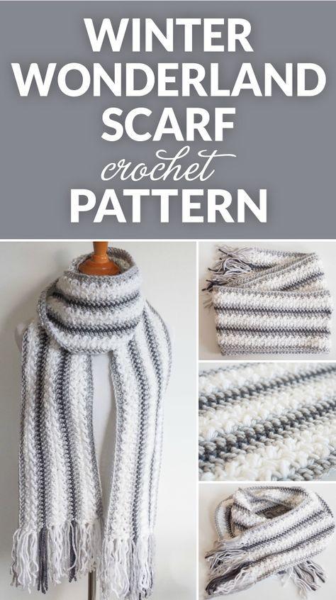 Winter Wonderland Crochet Scarf Pattern