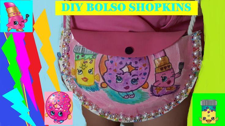 Como hacer Bolso Shopkins de donuts, labial, fish flake | DIY shopkings bag