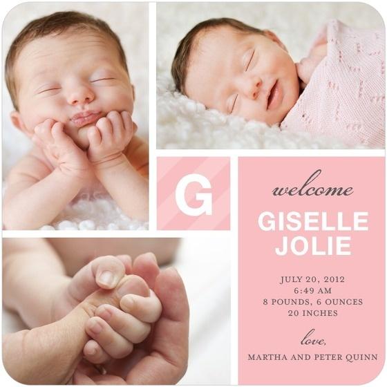 17 best Birth Announcement Templates images – Unique Birth Announcement Cards