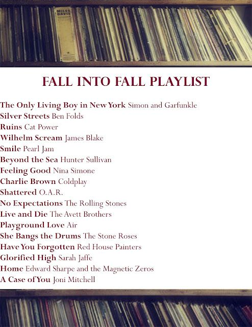 #Fall playlist