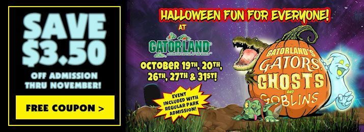 Gatorland The Alligator Capital Of The World Is Getting Ready For Halloween With Gators Ghosts And Goblins Food Themes Orlando Florida Fun Things To Do