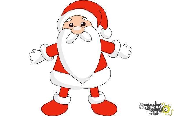 how to draw cute santa claus step 10 cute drawings drawings cartoon drawings disney how to draw cute santa claus step 10