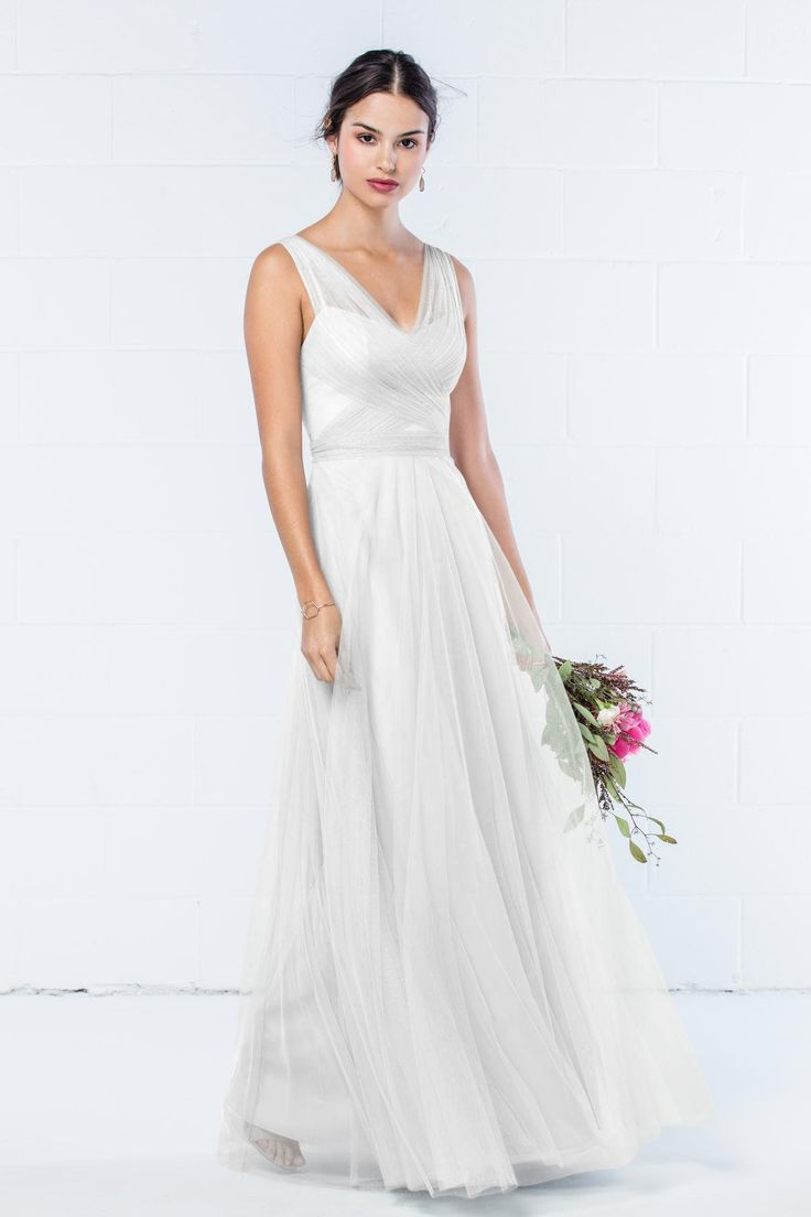 30 best navy blue bridesmaid dresses images on pinterest navy take a look at this gorgeous wtoo by watters style 343 bridesmaid dress in pale blue fabric available in sizes and tons of colors at brideside ombrellifo Image collections