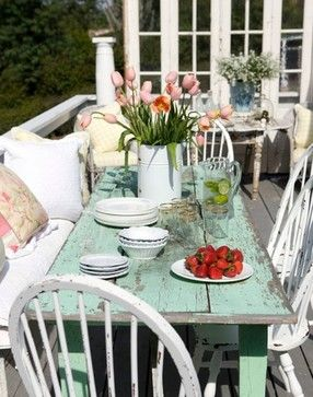 Patio Shabby Chic Cottage Decorating Design Ideas, Pictures, Remodel, and Decor - page 3