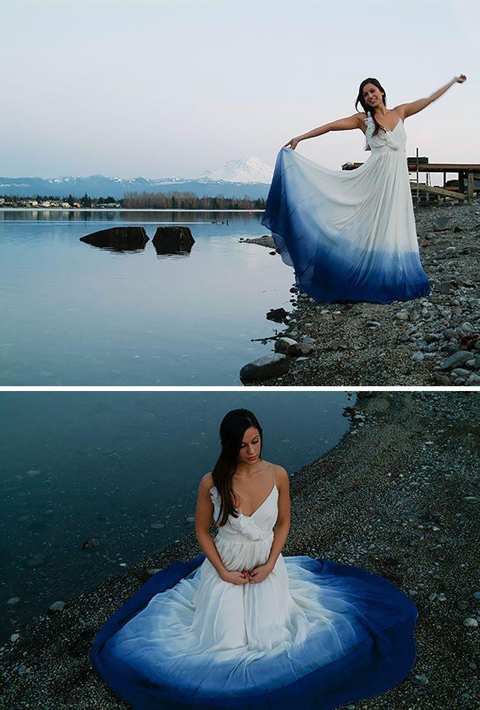 New trend on wedding – Dip dye wedding dress | Vuing.com