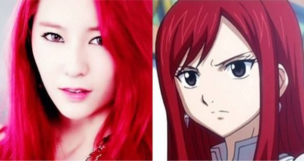 10 More times your favorite stars looked exactly like anime characters