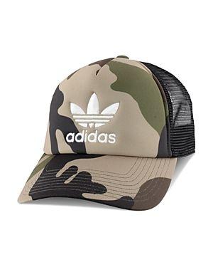 1694e0a59ee ADIDAS ORIGINALS ADIDAS ORIGINALS CAMOUFLAGE-PRINT TRUCKER HAT.   adidasoriginals