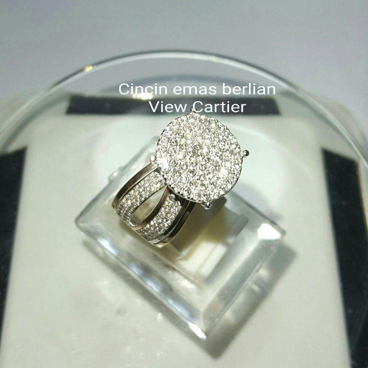 New Arrival🗼. Cincin Emas Berlian View Cartier Side Rg💍💎.   🏪Toko Perhiasan Emas Berlian-Ammad 📲+6282113309088/5C50359F Cp.Dewi👩.  https://m.facebook.com/home.php  #investasi #diomond #gold #beauty #fashion #elegant #musthave #tokoperhiasanemasberlian