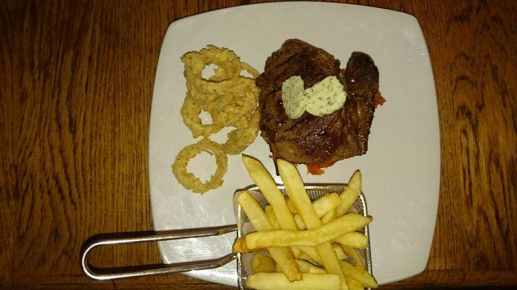 Rib eye steak at Jaxx, Umtentweni South Africa