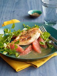 Chicken with grapefruit : DAIRY FREE, SOY FREE, PORK FREE, NUT FREE, SHELLFISH FREE, AVERAGE, EGG FREE, GLUTEN FREE,