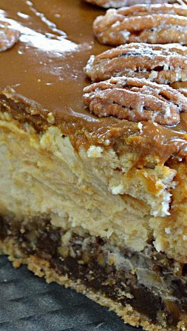 Pecan Pie Cheesecake...this should be illegal. Lol