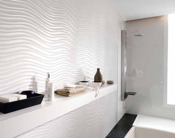 Porcelanosa White Amp Textures Modern Bathroom Tile White