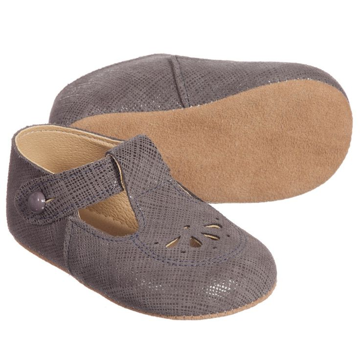 Early Days - Grey Leather 'Robin' Pre-Walker Shoes | Childrensalon