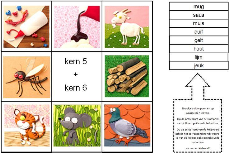 Knijpkaarten structureerwoorden Kim-versie Kern 5 + Kern 6
