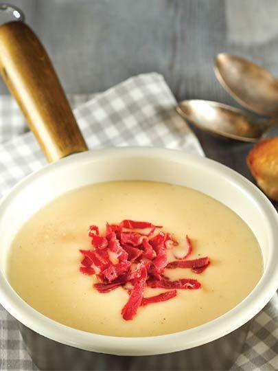 Pastırmalı patates çorbası