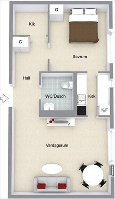 estilo nórdico estilo escandinavo diseño de interiores decoración sueca Decoración sencilla y funcional en un mini piso de 48 m² decoración nórdica decoración escandinava decoración en blanco decoración de pisos pequeños decoración de minipisos decoración de interiores decoración de estudios
