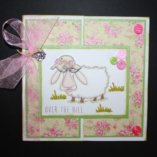 This is the Quirky Baa-Humbug set designed by Sharon Bennett for Hobby Art. Clear set contains 16 Clear stamps. This Stunning card was made by Heidi Green
